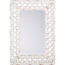 OSP Designs Victoria Vintage Mirror - White