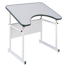 Alvin-4 Post Table with White Frame and White Top