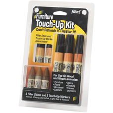 Master Caster Furniture Repair Kit with 5 Touch up Markers and 3 Filler Sticks - Wood Finishes