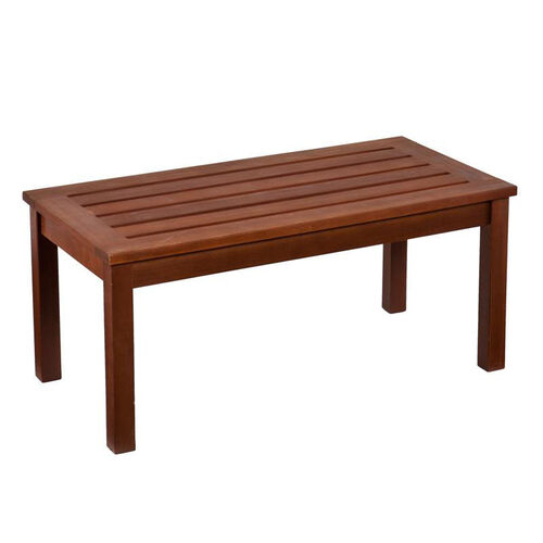 Beagan Contemporary Slatted Hardwood 36''W x 16''H Cocktail Table with Oil Finish - Dark Brown