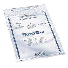 PM SecurIT Plastic Disposable Deposit Money Bag - 9'' x 12'' - Plastic - White