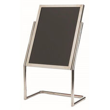 Dual Capability Neon Marker Board and Poster Holder - Chrome Base and Frame - 48''H