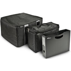 Portable File Tote with One Cooler Bag and One Hanging Portable File Holder