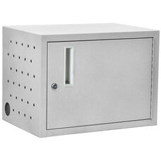 Chromebook and Netbook Charging Cabinet with Lockable Doors - Charges Up to 12 Devices - 13''W x 19''D x 14''H