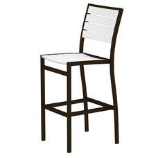 POLYWOOD® Euro Bar Side Chair - Textured Bronze / White