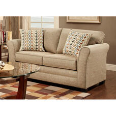 Essex Contemporary Style Polyester Loveseat - Mover Straw