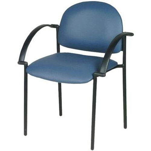 Patient Arm Chair with Black Frame - 17''W X 18''L