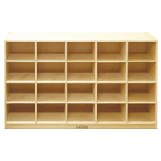 Birch 20 Cubby Tray Cabinet with 12'' Deep Cubbies - 48''W x 13''D x 30''H