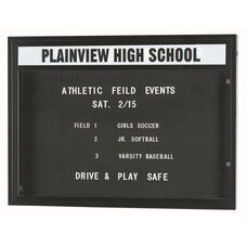 Single Sided Illuminated Community Board with Header and Bronze Anodized Finish - 36''H x 47''W