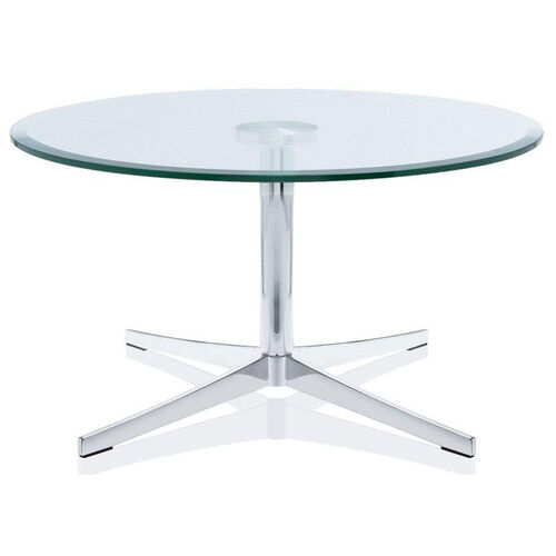 Axium 30'' Round Tempered Glass Table - 17''H