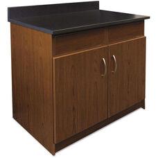Alera Plus™ Hospitality Base Cherry Laminate Cabinet with 2 Flipper Doors - 36''W x 24.75''D x 40''H - Granite Neb