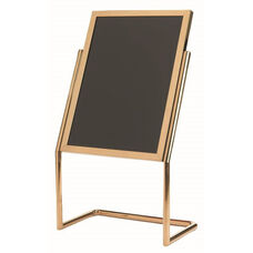 Dual Capability Neon Marker Board and Poster Holder - Brass Base and Frame - 48''H