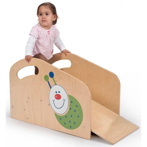 Toddler Step and Ramp with Colorful Ladybug Decal