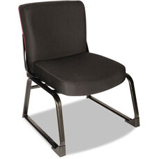 Alera Plus™ XL Series Big and Tall Mid-Back Armless Guest Chair - Black