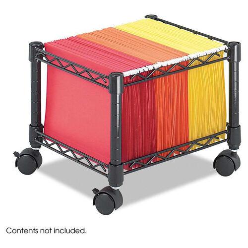 Safco® Mini Mobile Wire File Cart - Steel Wire - 15-1/2w x 14d x 12-1/2h - Black