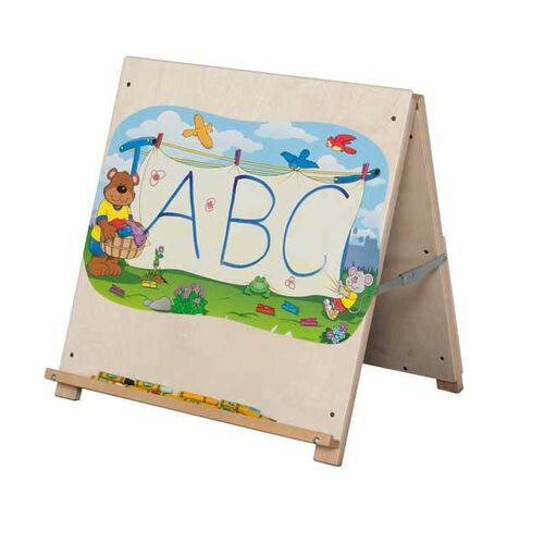 Solid Maple Big Book Tabletop Easel with Bracket on Backside - Assembled - 24''W x 16''D x 24''H