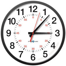 TimeTrax Sync 17'' Analog Clock with Shatterproof Polycarbonate Lens - 12 Hour Face with Seconds
