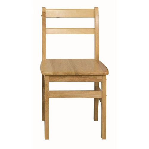 18''H Assembled 3 Rung Hardwood Ladderback Chair with Mortise and Tenon Construction