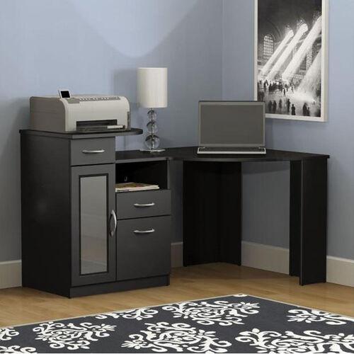 Vantage 48'' Corner Desk- Black Finish