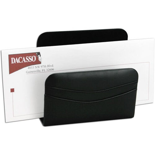 Classic Leather Letter Holder - Black