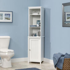 Bath Collection 60.625''H Linen Tower with Reversible Door - White