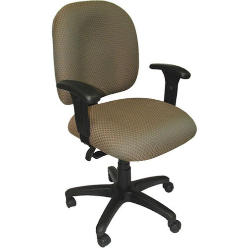 Palisades 24'' W x 22'' D x 35.5'' H Adjustable Height and Width Mid-Back Chair with Deluxe Control
