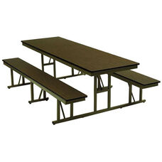 Customizable Standard Bench Lunchroom Table without Back Support - 48''W x 57''D x 29''H