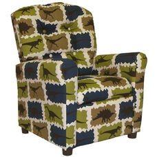 Kids Recliner with Button Tufted Back - Rex Stellar Blue