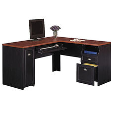 Fairview L-Shaped Computer Desk - Black