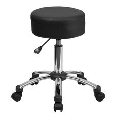 Medical Ergonomic Stool with Chrome Base