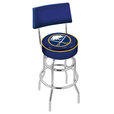 Buffalo Sabres 25'' Chrome Finish Swivel Counter Height Stool with Double Ring Base