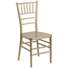 HERCULES PREMIUM Series Gold Resin Stacking Chiavari Chair