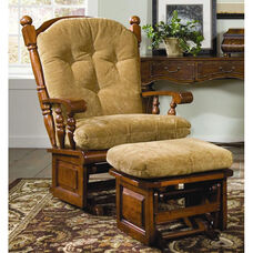 Maple Wood 34'' W x 45'' H x 36'' D Post Back Glider with Raised Panel - Antique Cherry Finish