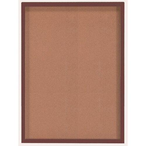 1 Door Souvenir and Memorabilia Display Case with Walnut Finish - 36''H x 48''W