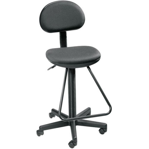 Economy Height Adjustable Drafting Chair - Black