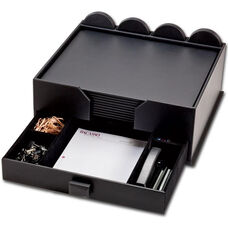Leather 23 Piece Combination Conference Room Set - Black