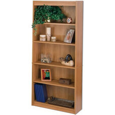 11.6''L x 29.5''W x 72''H Standard Laminate Bookcase with Adjustable Shelves - Cappuccino Cherry
