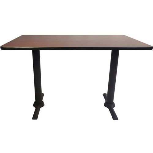 30'' x 48'' Double-Sided Rectangular Indoor Table Top - Two Standard Height Side Bases