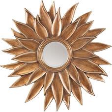 OSP Designs Orleans Beveled Sun Flower Wall Mirror - Gold