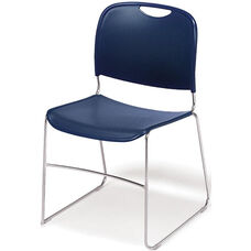 4800 Series Quick Ship Stackable Chair with Polished Chrome Frame - Navy - Set of Four