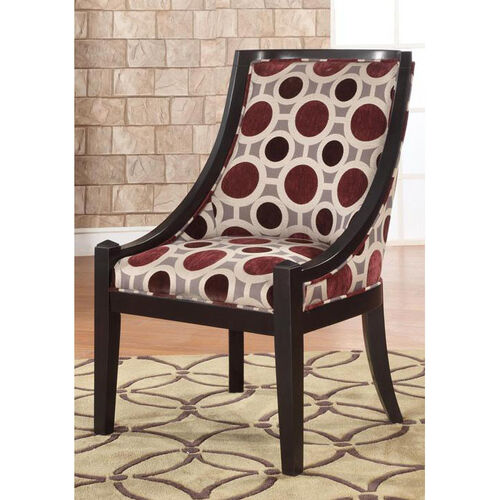Mulberry & Grey High Back Accent Chair 20-1/2'' Seat Height