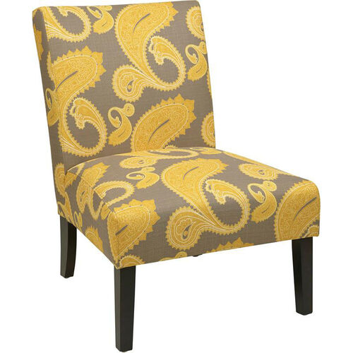 Ave Six Solid Wood Frame Victoria Chair with High Performance Fabric Upholstery - Sweden Dijon