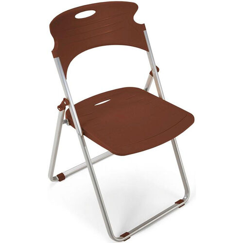 Flexure Folding Chair with Polypropylene Seat and Back - Chocolate