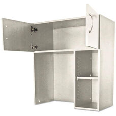 Alera Plus™ Hospitality Laminate Hutch with Two Doors and Adjustable Shelf - 36''W x 18''D x 40.25 - Gray