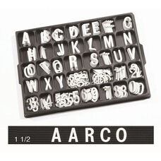 Universal Single Tab 1.5'' Changeable Helvetica Style Typeface Letters - 138 Characters per Set
