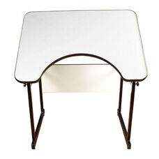 Alvin-4 Post Table with Black Frame and White Top