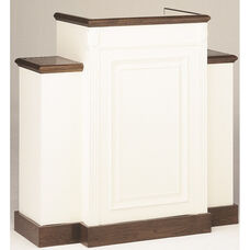 Red Oak Colonial Finish Wing Pulpit with Raised Bevel Front Panel