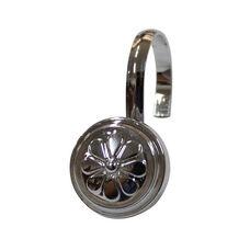 Wagon Wheel 12 Piece Metal Modern Decorative Shower Hooks - Chrome