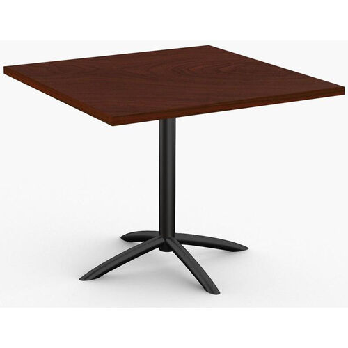 Fusion 1 Day Quick Ship 42'' x 42'' Breakroom Table with Arched Single Column X-Base