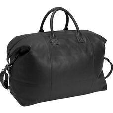 Euro Traveler Bag with Shoulder Strap - Milano Top Grain Leather - Black